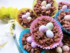 Chocolate Coconut Crispie Nests