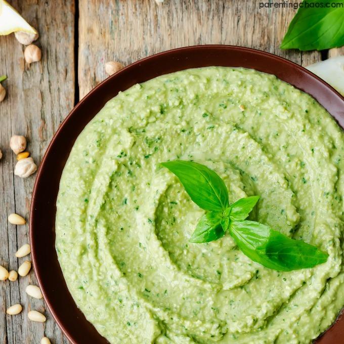 Basil Pesto Hummus